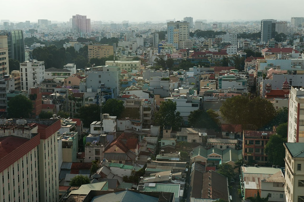 View of Ho Chi Minh City, Vietnam from our room at the Sofitel