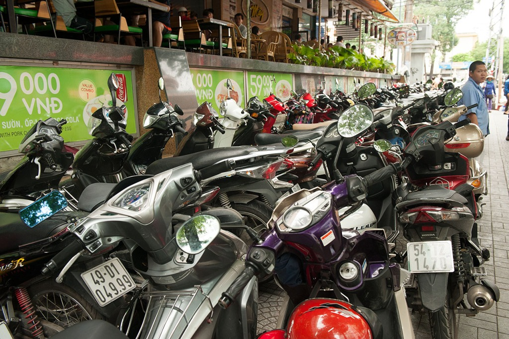 Endless mopeds in Ho Chi Minh City, Vietnam