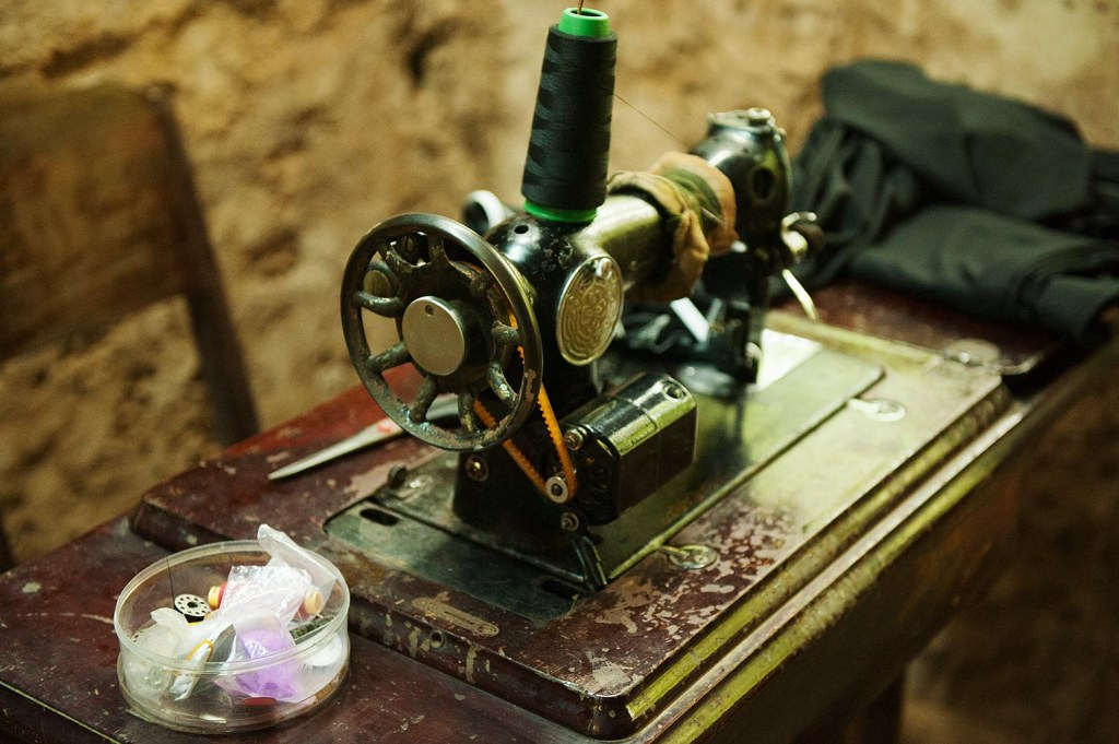 Original sewing machine used in the Cu Chi tunnels to make uniforms and camouflage clothing