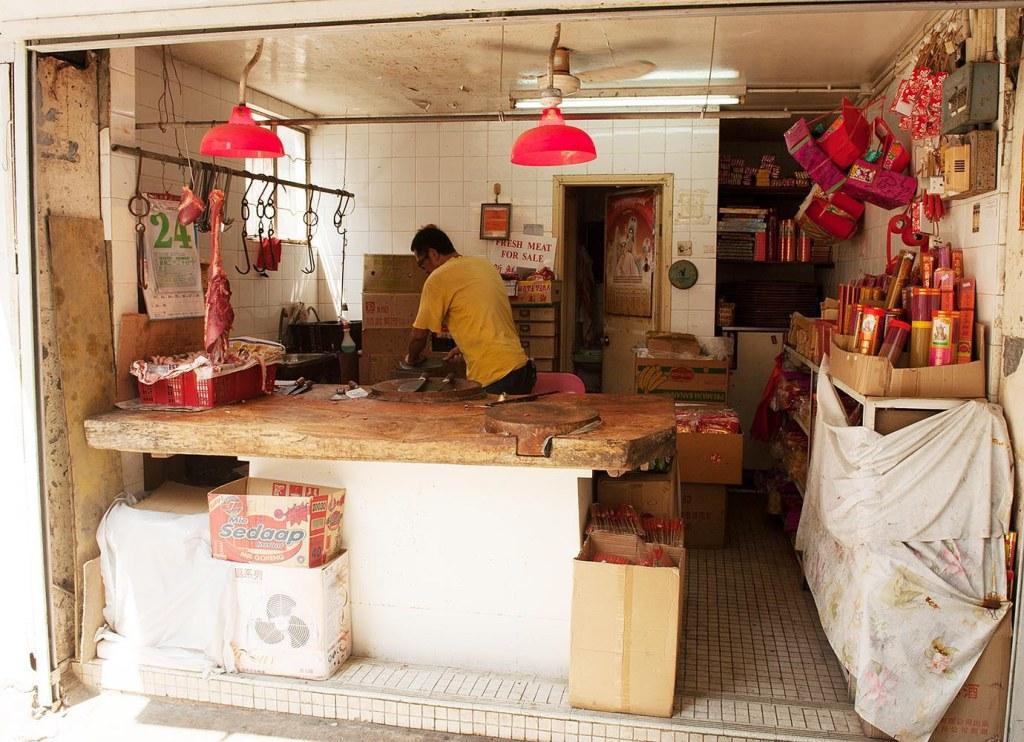 Local butcher on Yung Shue Wan