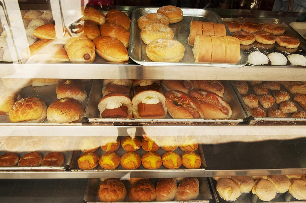 Local pastries (and inexplicably, hot dogs) to help you fuel up for your hike