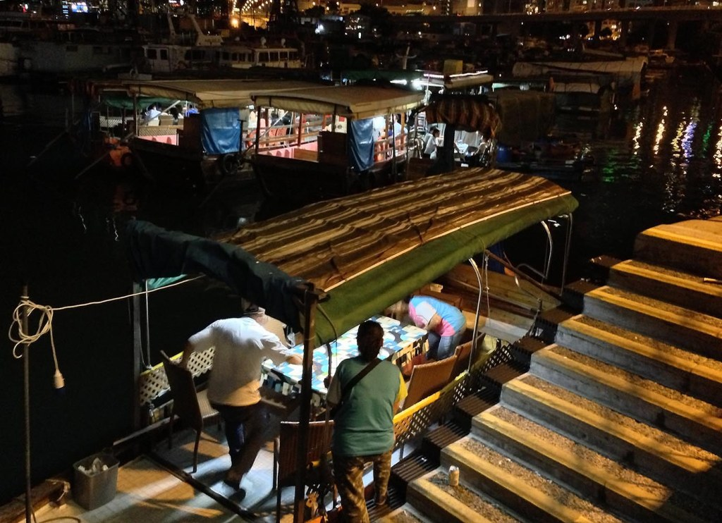 Boarding your dining boat at Shun Kee