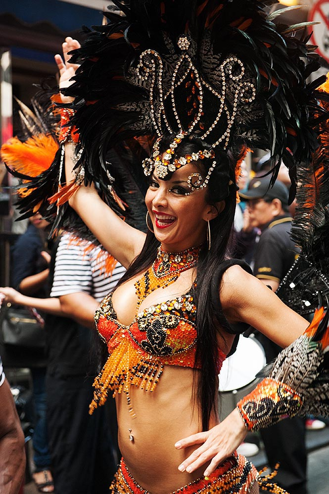 Brazilian samba dancers...