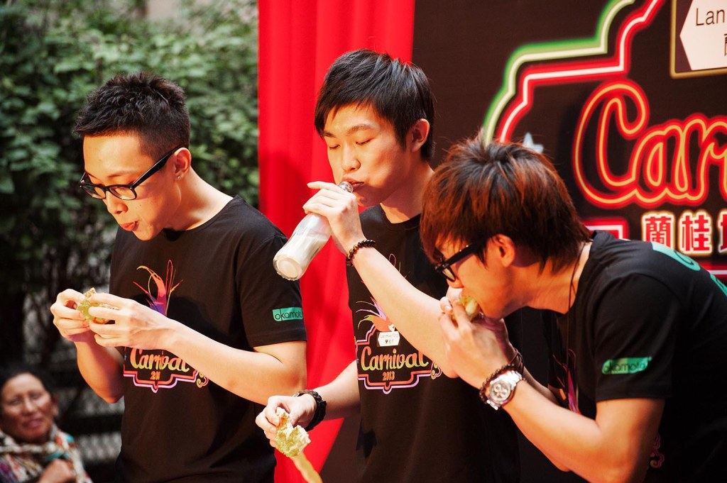 'Pineapple bun'-eating contest…much pain, little gain