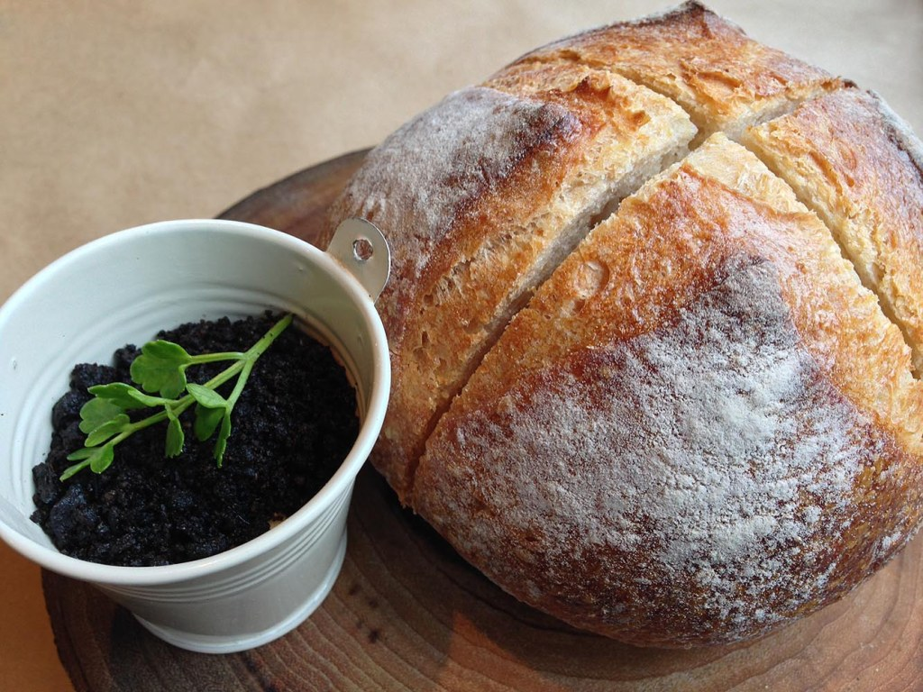 Perfect bread, with 'edible soil'-sprinkled butter