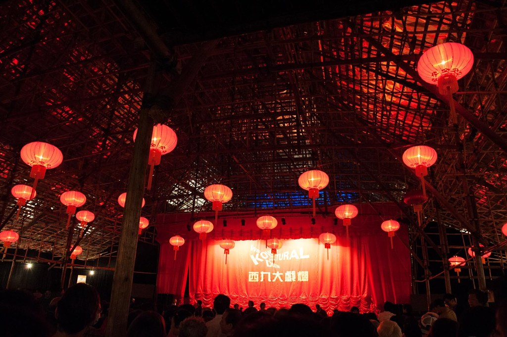 An inside look at the elaborate but temporary West Kowloon Bamboo Theatre