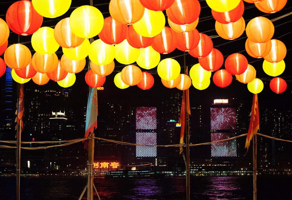 A CNY twist on the Hong Kong Island skyline