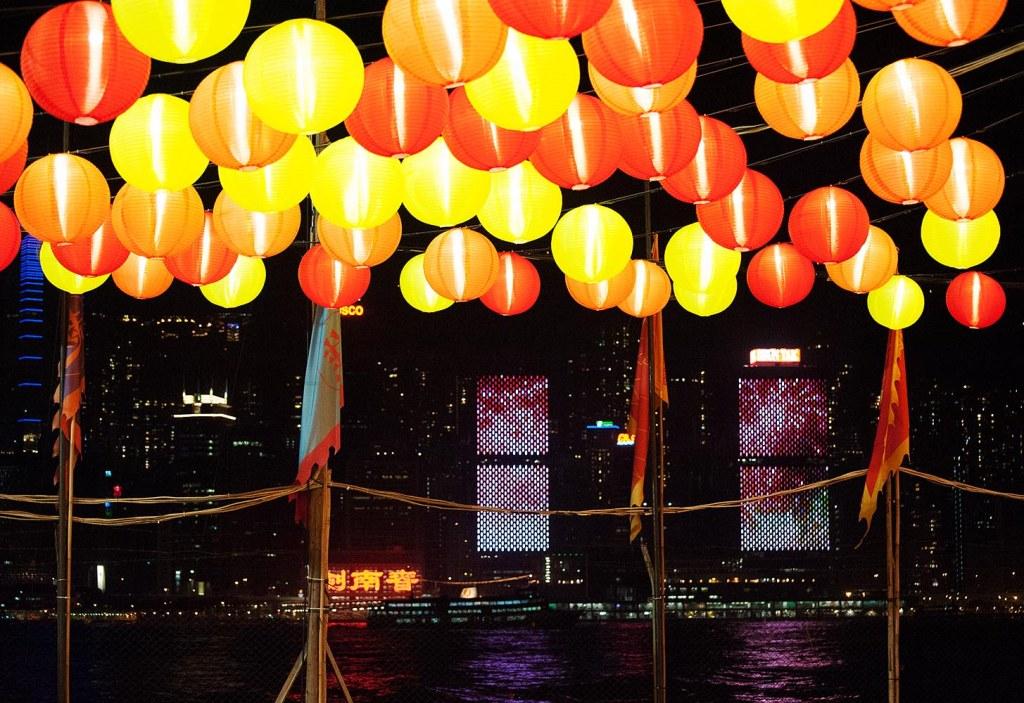 A CNY twist on the Hong Kong Island skyline