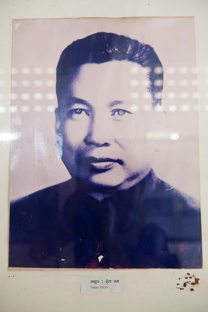 The ruthless leader of the Khmer Rouge, Pol Pot
