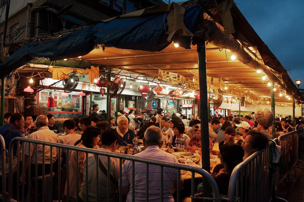 The famed seafood shacks lining the pier on Cheng Chau
