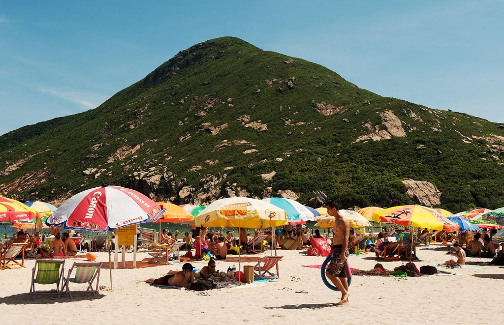 It's tough to beat a beach with a mountain in the background - weekending on Shek O Beach