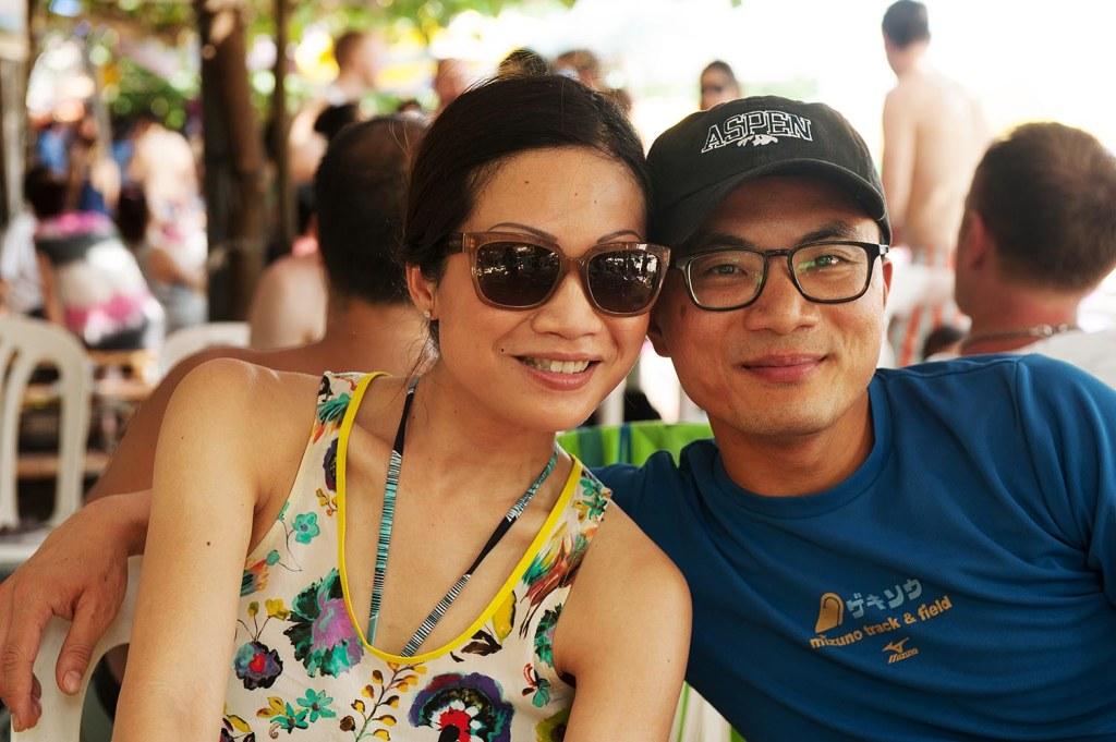 Andy and Christina keep coolin the shade on scorching-hot Shek O