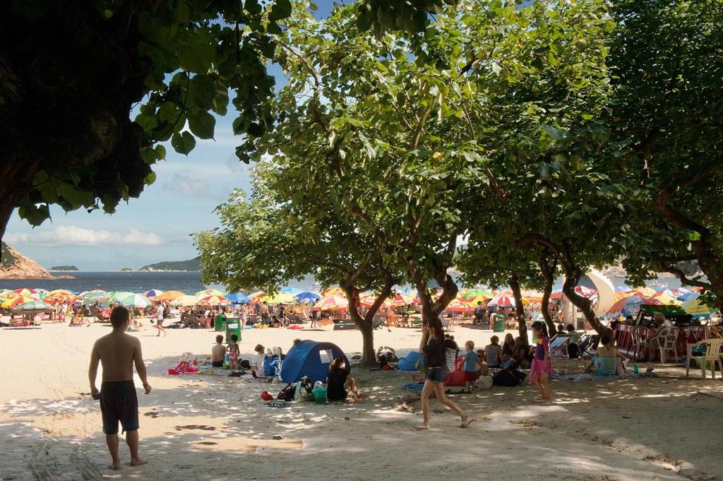 HK's blissfully prevalent trees line part of Shek O Beach