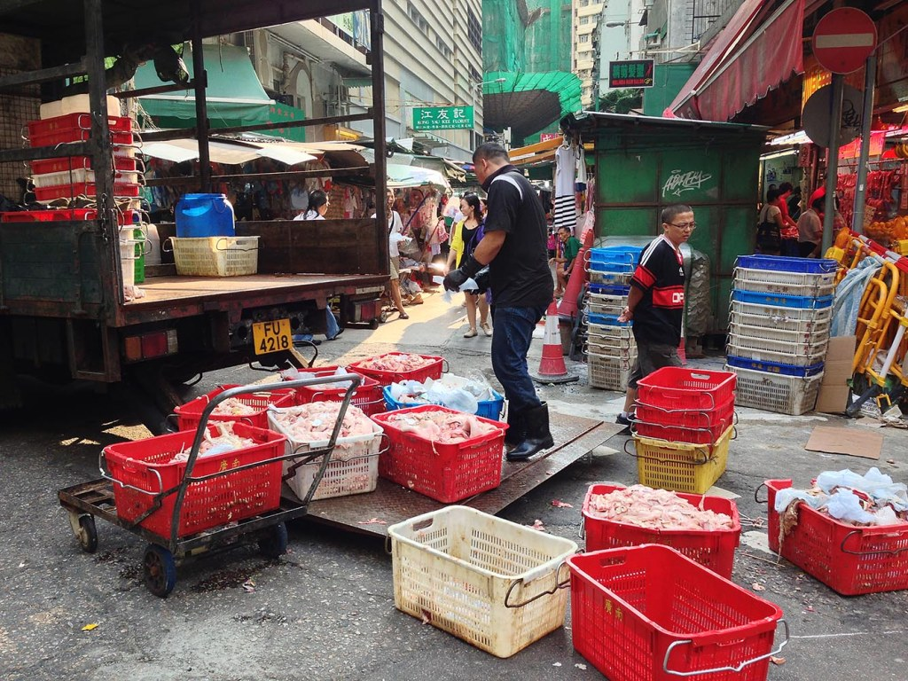 The colorful (and sometimes a bit gritty) outdoor Wan Chai Market