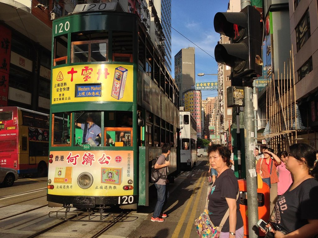 HK's famed double-decker open-air trams