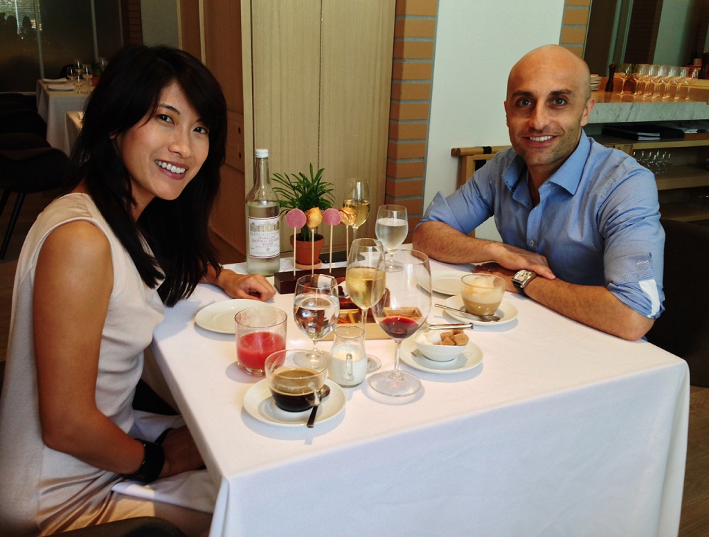 Yours truly and Mark enjoying a luxurious brunch (yes, bottomless - drinks, that is!) at The Principal