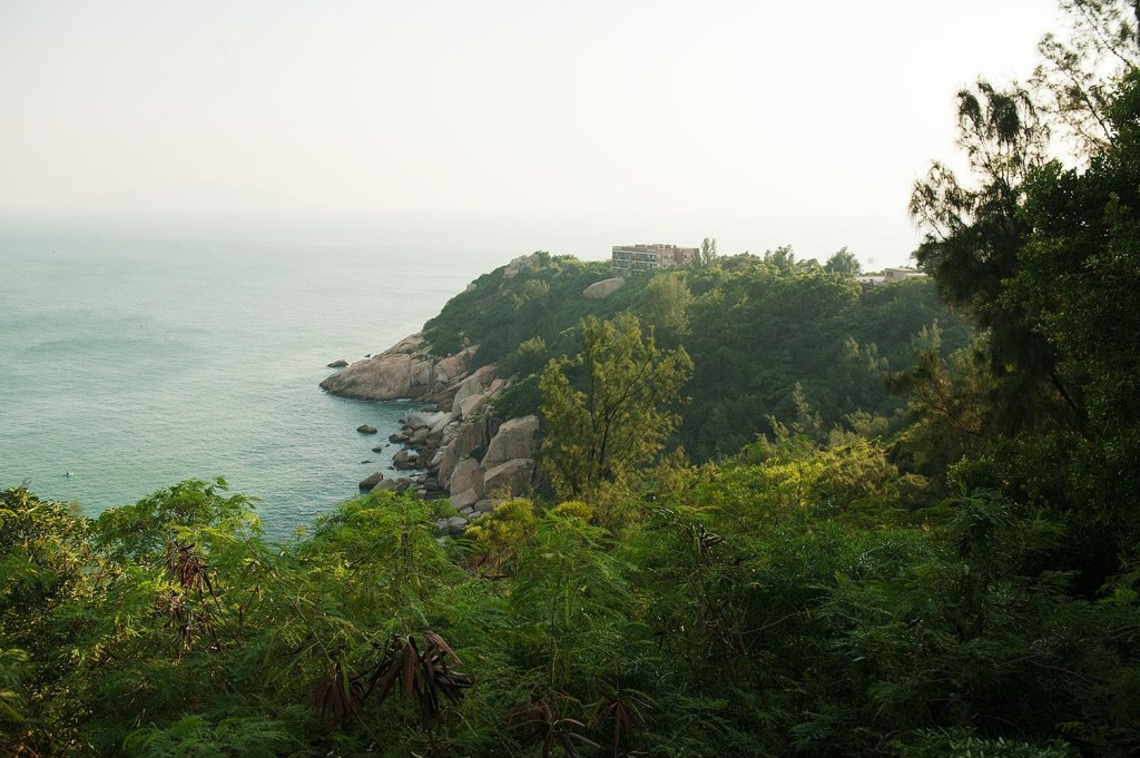 Looking out over the edge of Cheung Chau from the rooftop of an abandoned house