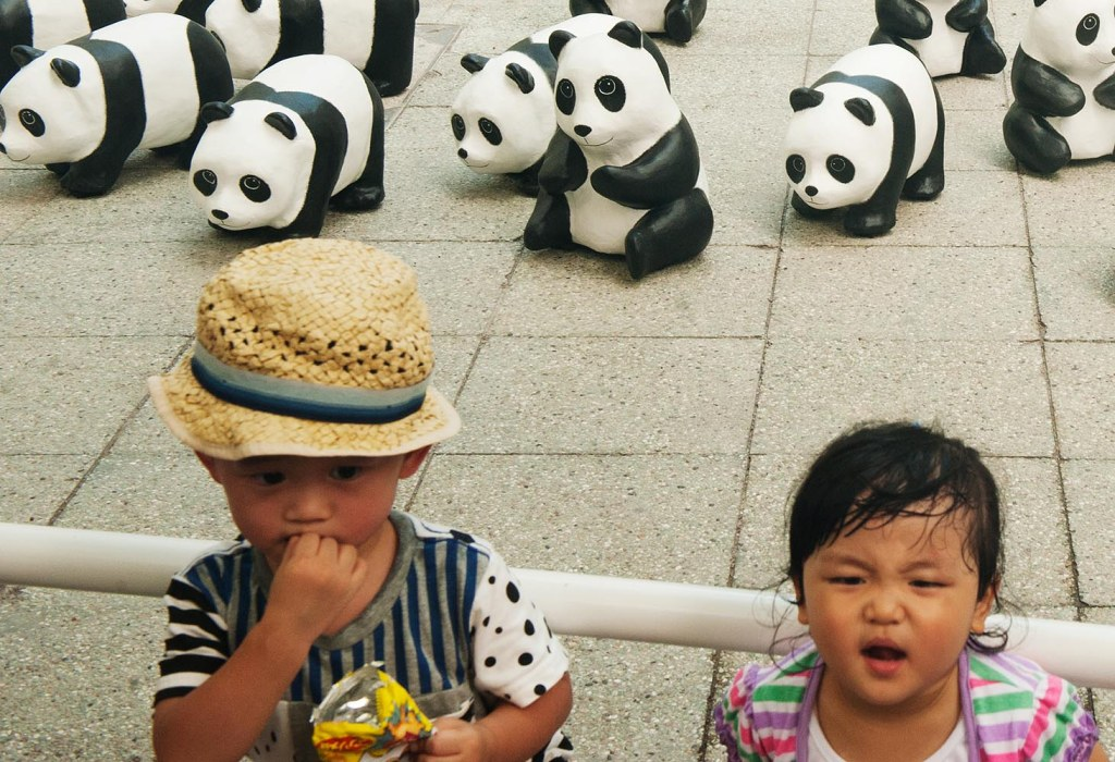 The infuriatingly oppressive humidity of HK - enough to make anyone cranky (even with adorable pandas nearby)