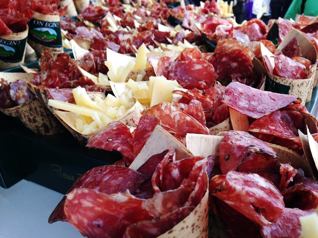 Some of the charcuterie on offer at the Amex Wine & Dine Festival