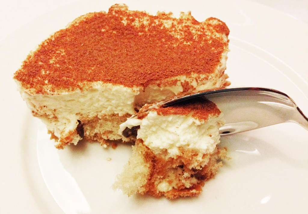 G7's mighty tasty tiramisu (and if you're extra nice to chef Eddy, he's even willing to bring you seconds!)