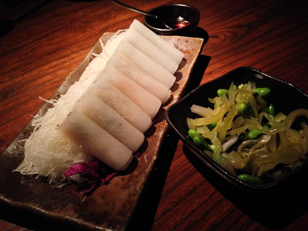 Crabmeat and turnip rolls at Hutong