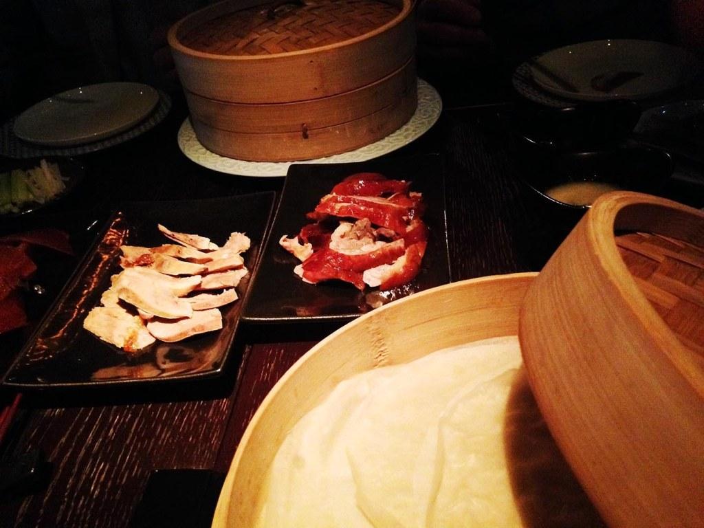 Mott 32's signature roast Peking duck