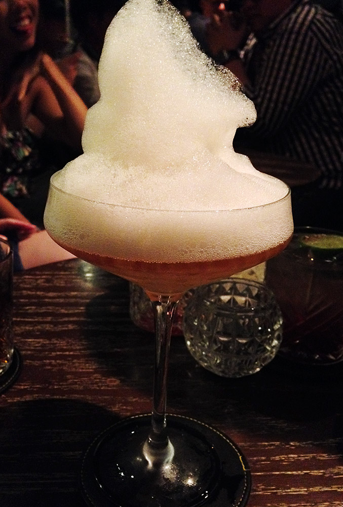 Earl Grey 'Caviar' Martini at Quinary, HK's premium cocktail lab (call ahead to snag a table and be prepared to drop serious cash for your fancy libations)