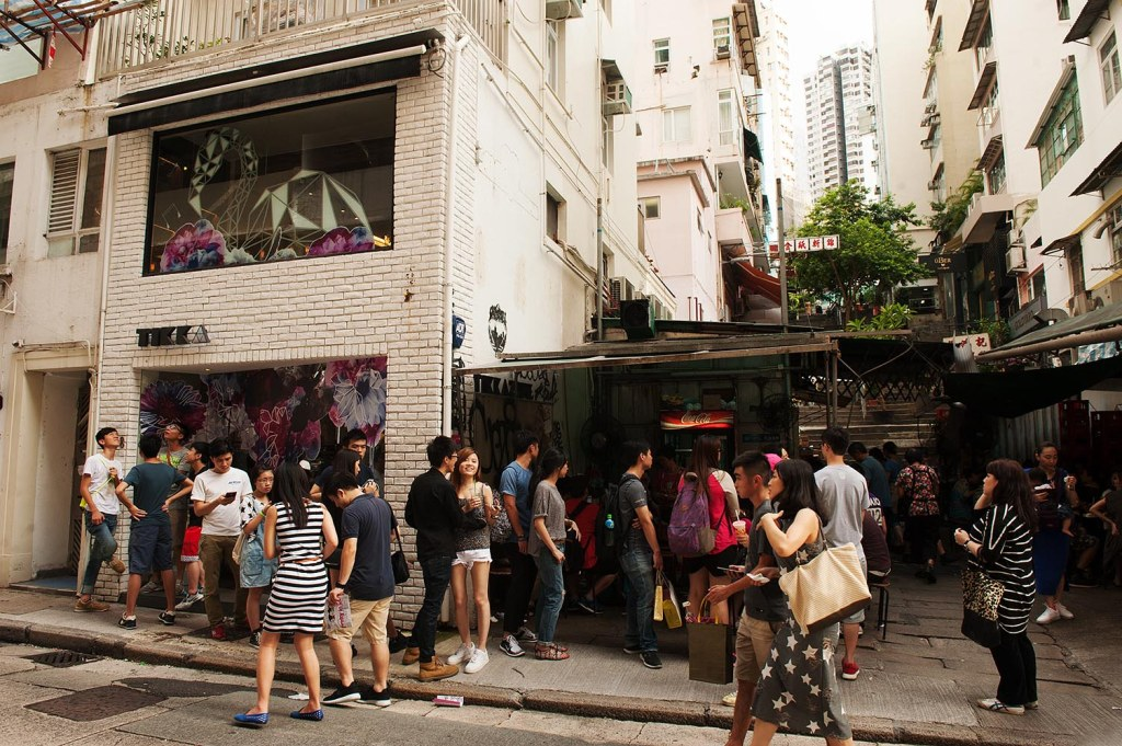 One of HK's countless (and often puzzling) queues