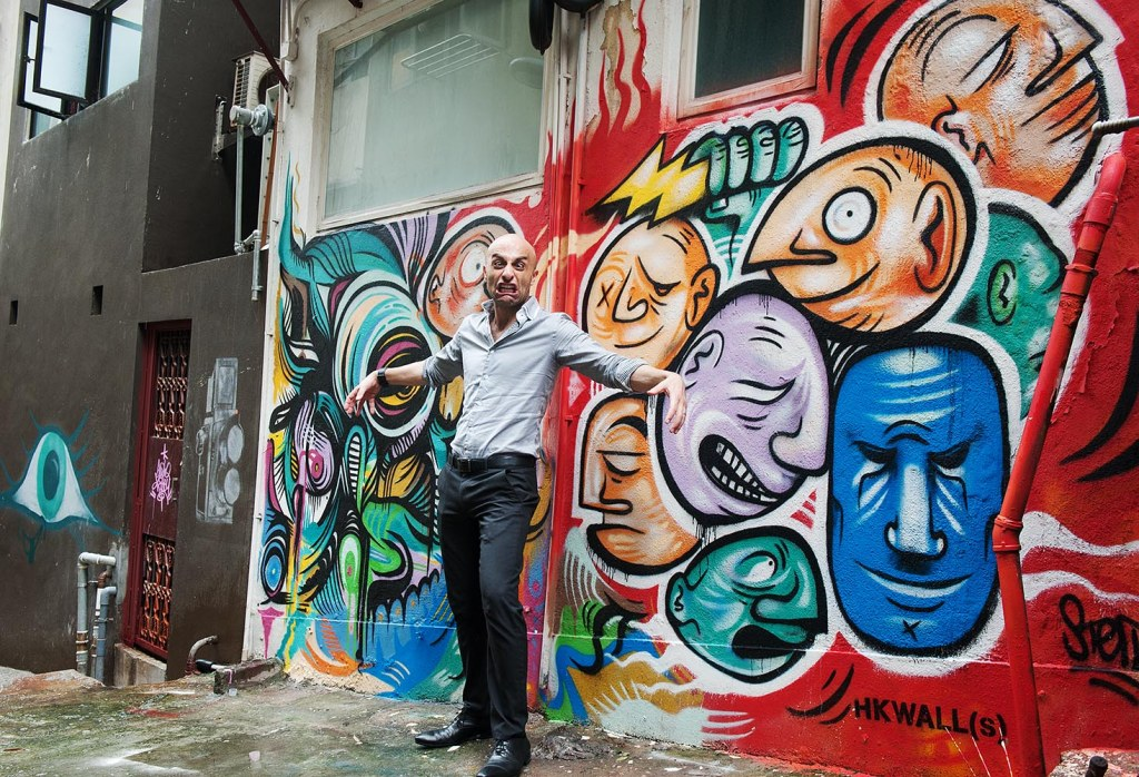 Mark is motivated to mimic Stern Rockwell and 4Get's colorful mural (and he does it so well, doesn't he?)