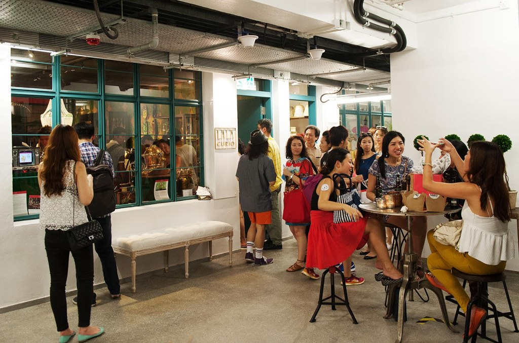 Ladies relax and mingle upstairs at PMQ during Nightmarket