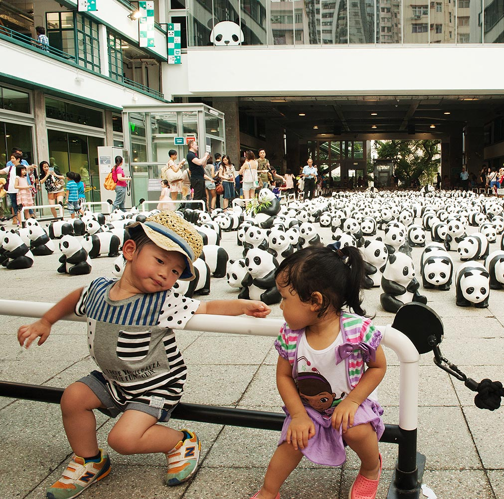 The riotously popular and very kid-friendly 1600 Pandas exhibit, in its final display venue in the courtyard at PMQ