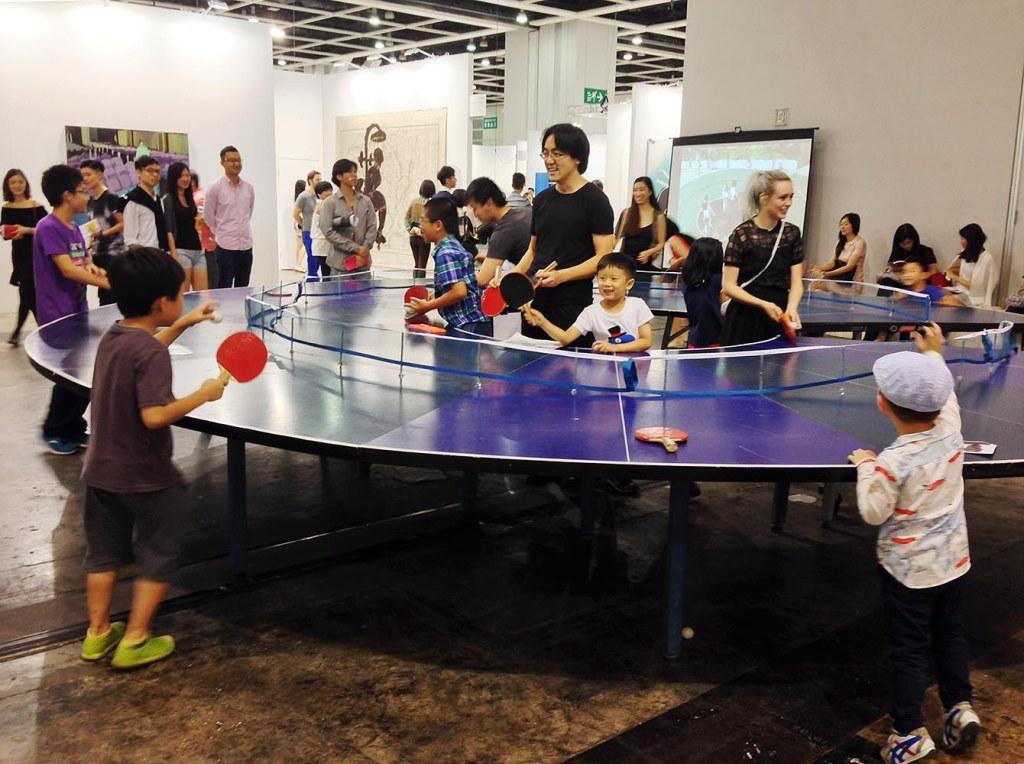 Lee Wen's über-fun 'Ping Pong Go-Round'
