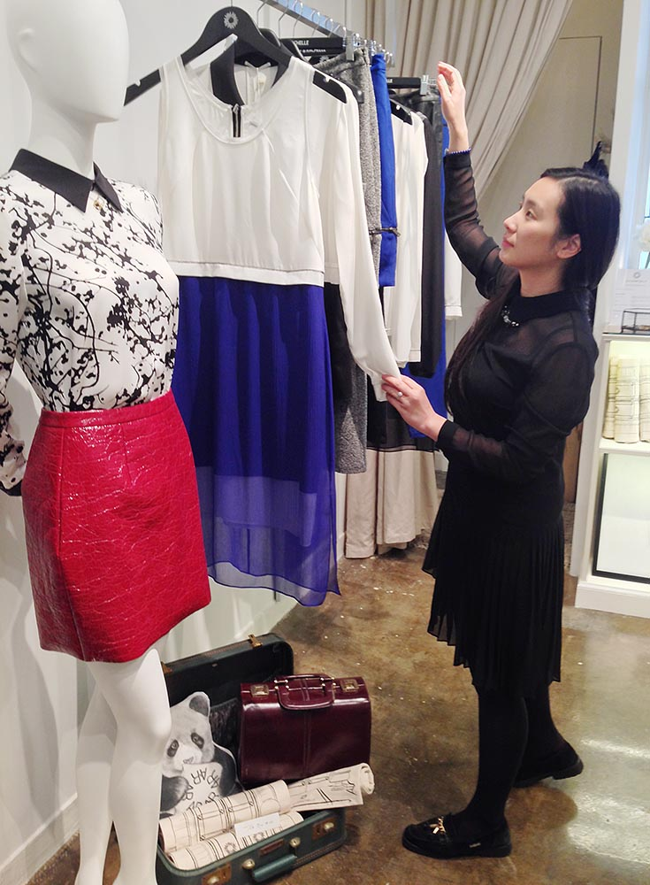 The lovely and talented Christine Lam, the designer behind clothing label Aly & Rachelle