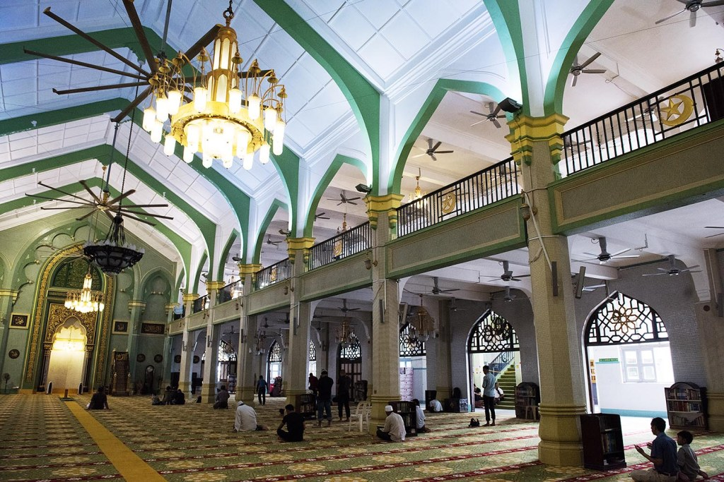 The main hall of the Mosque
