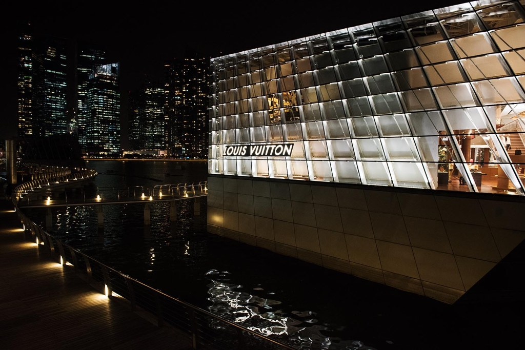 Singapore's floating showcase of luxe - the Marina Bay LV shop