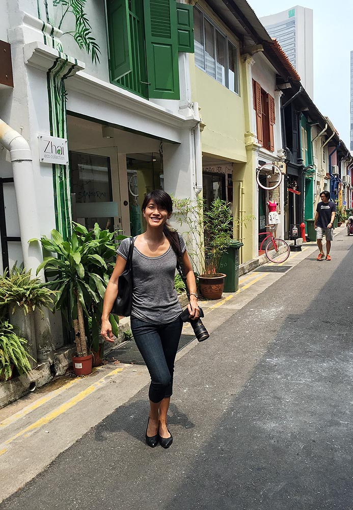Yours truly on Haji Lane
