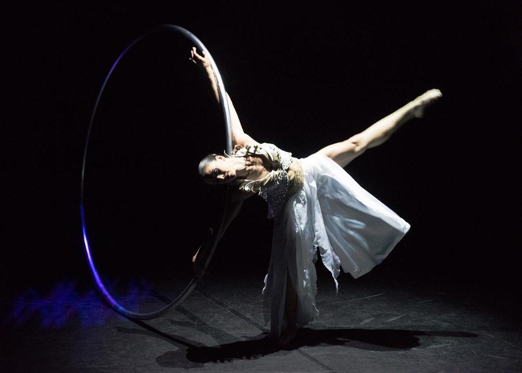 Valérie Inertie, awe-inspiring cyr wheel artist, aerialist, and circus choreographer