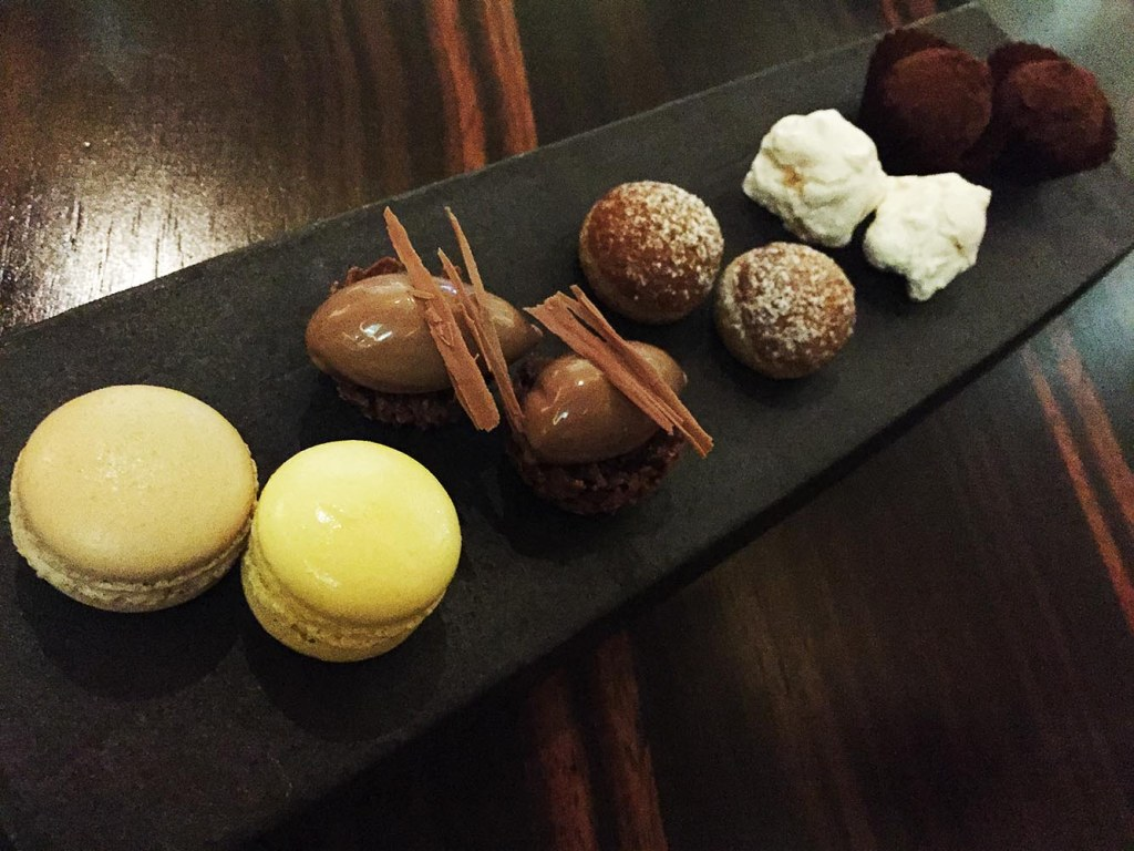 You'll retire to a nearby lounge to enjoy your desserts and petit fours (but be warned - you may be tempted to slip into a pleasant nap as you conclude your epic meal)