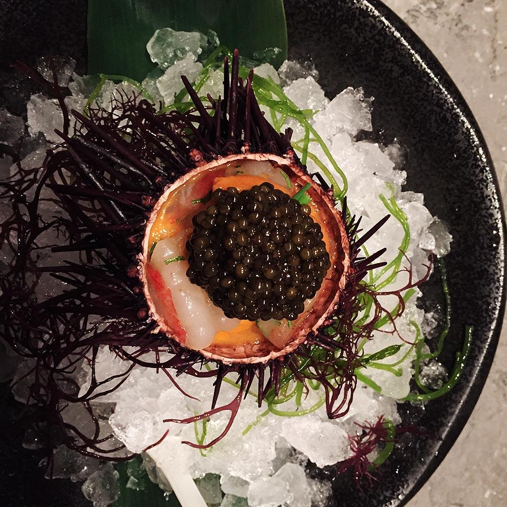 Waku Ghin's eternal classic standout - urchin with caviar