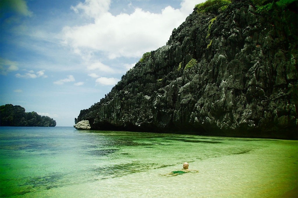 Mid-day heat in El Nido mandates a periodic dip in the beautiful water (it's a tough life)