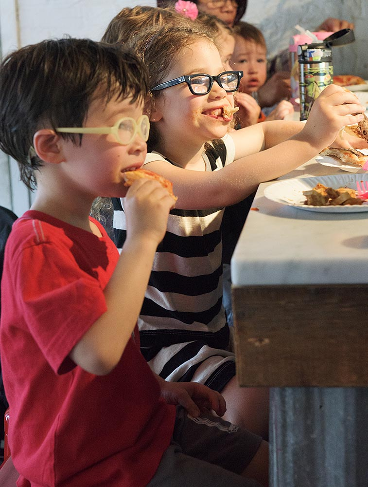 It's never too early to become a gourmand...at Luzzo's counter
