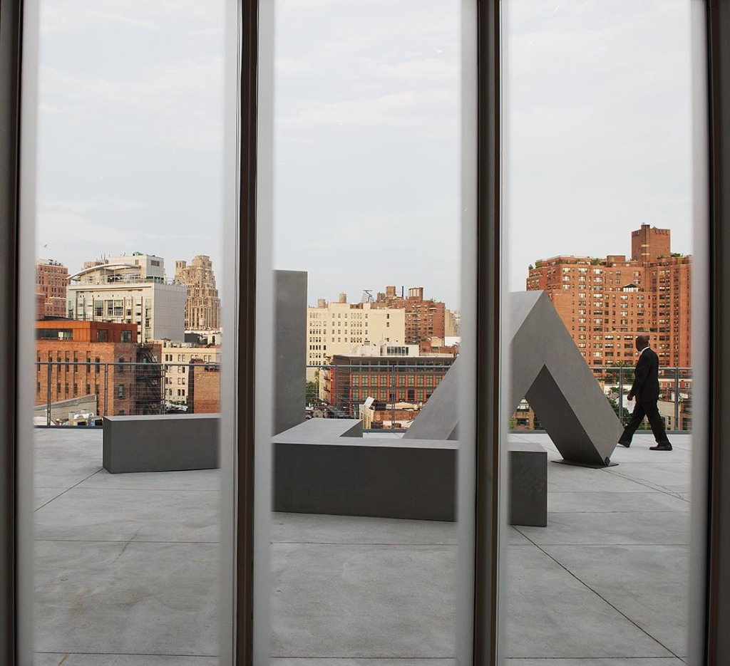One of the Whitney's outdoor exhibits