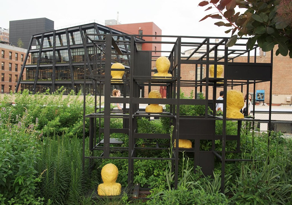 Rashid Johnson's Blocks, a living greenhouse sculpture