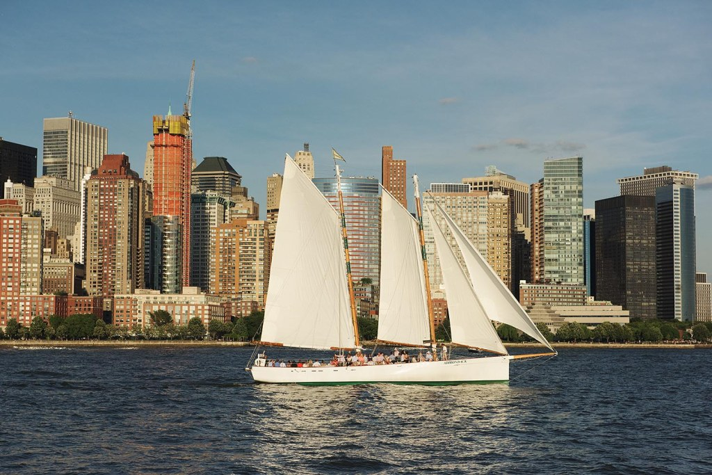 Sailing through the Hudson River