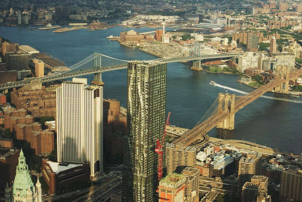 The Brooklyn and Manhattan Bridges