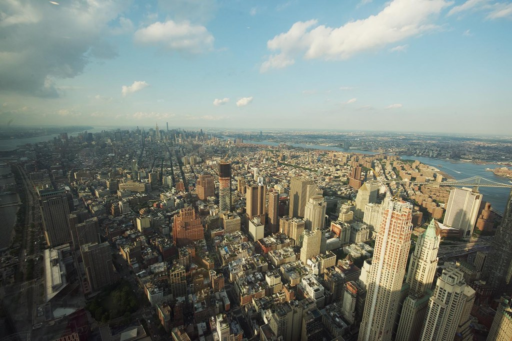 Bird's-eye views over Manhattan from the just-opened One World Observatory