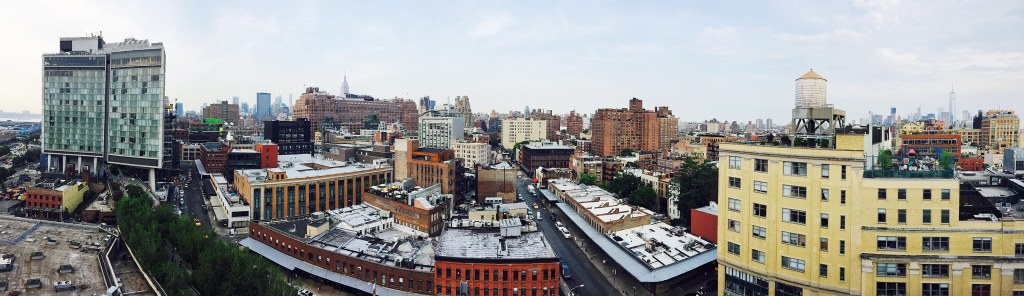 Pano from the top of the new Whitney Museum downtown