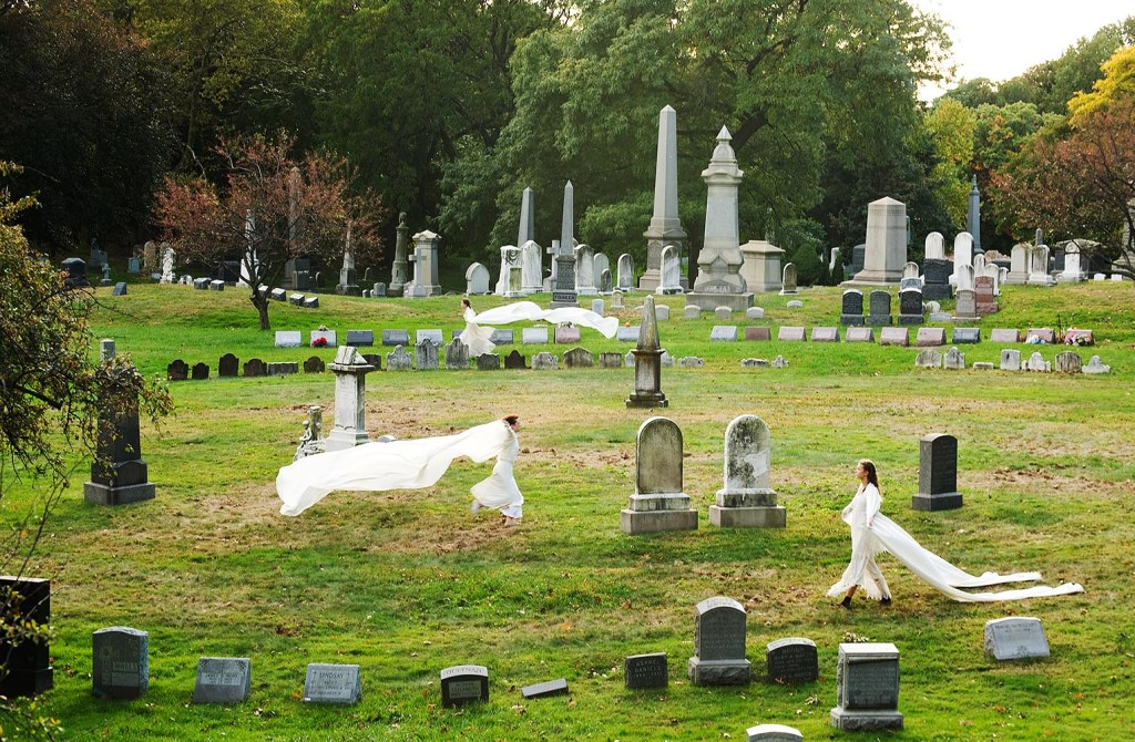 The beautiful but unfortunately now-defunct Angels and Accordions dance performance, in Brooklyn's historic Greenwood Cemetery