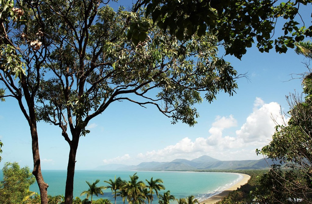 The view from Flagstaff Hill over Four Mile Beach in Port Douglas