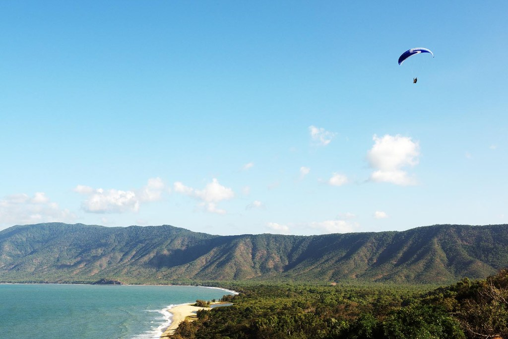 Paragliding is another option in the Port Douglas area